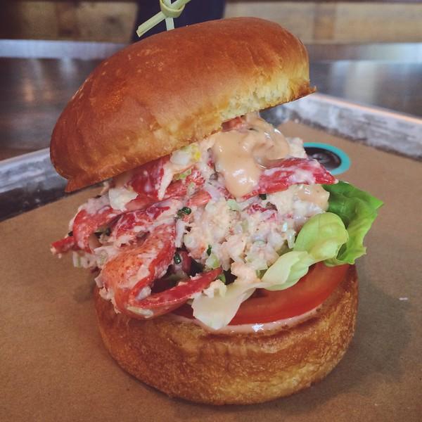 Lobster burger at Le Chic Shack