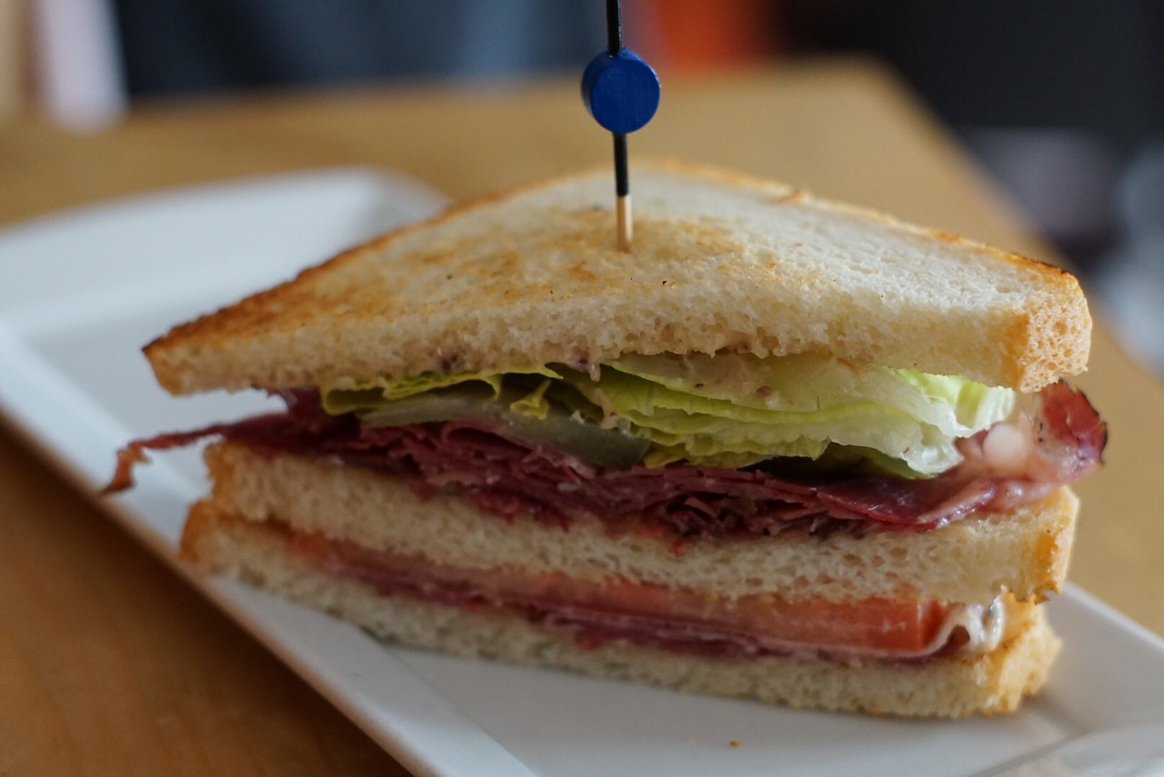 Smoked meat sandwich at BEclub Bistro & Bar