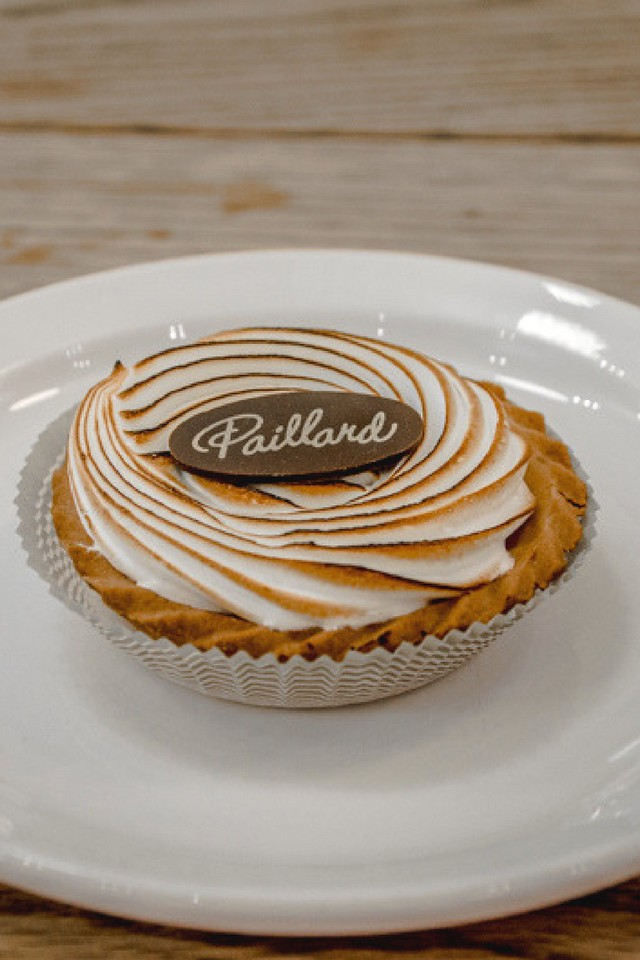 Lemon tart at Paillard café-boulangerie