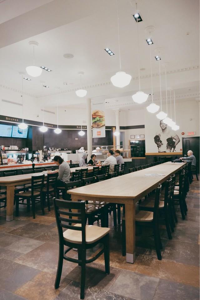 Communal tables at Paillard café-boulangerie