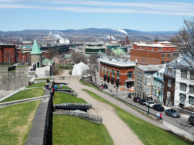 View of Quebec City from the walls