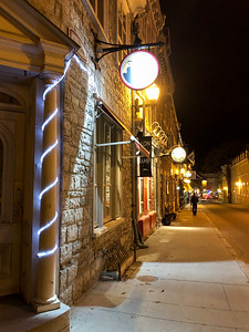 Quebec City street at night