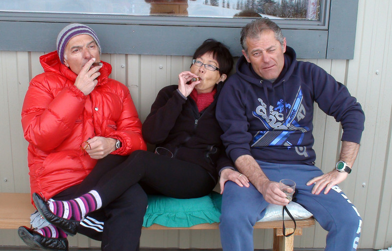 Cigars on the back deck