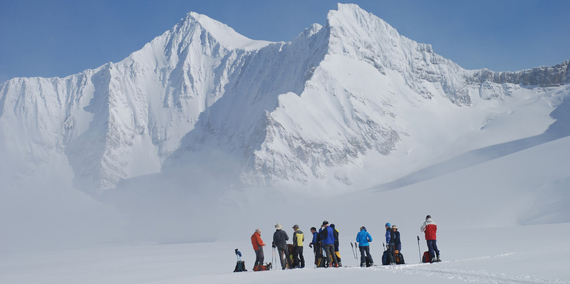 on Campbell Icefield en route to the Prior Glacier