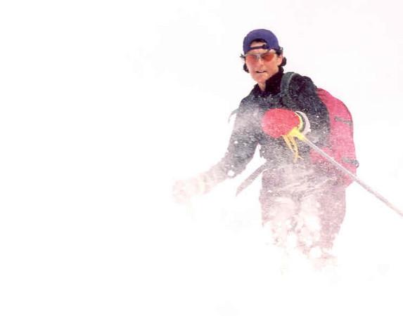 Therese can ski powder!