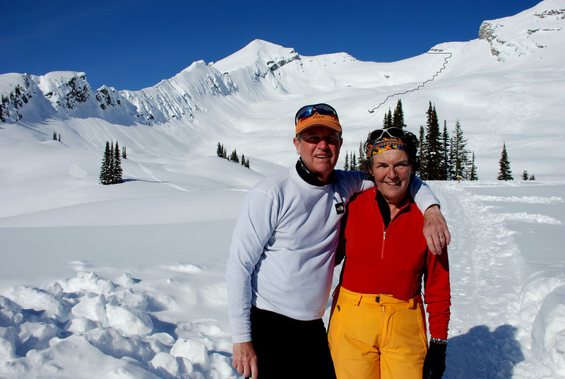 Bruce & Therese after descent from the high col