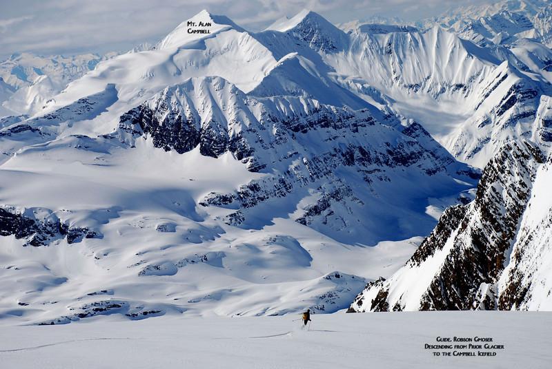Guide Robson Gmoser skiing the Prior Glacier