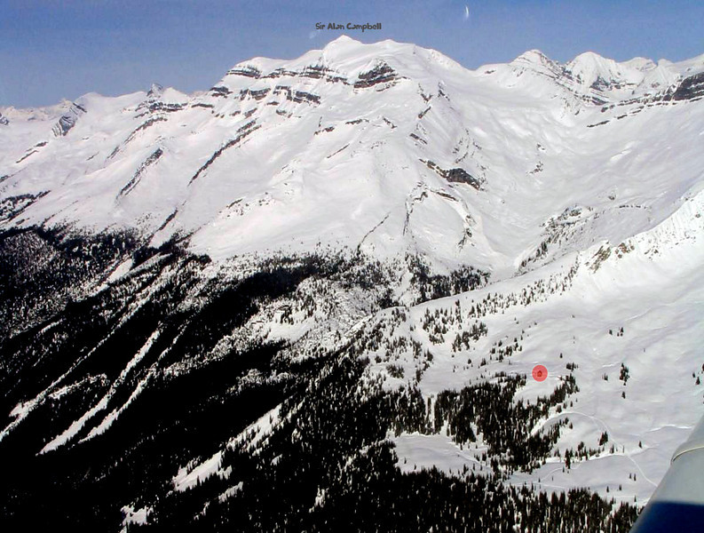 The chalet and Mt. Allan Campbell