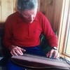 Hans playing the Zither his favourite instrument