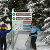 "XC Ski with a Silver star ""partners"", like ""Ginny"", and orient yourself at the start at one of the trail maps"