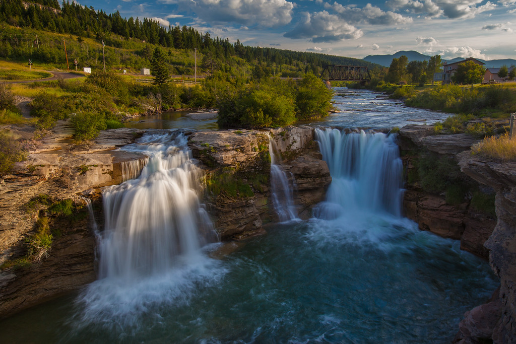 The beautiful Lundbreck Falls in Pincher Creek.