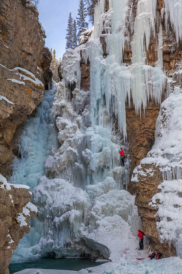 Ice Climbing in Johnston Canyon