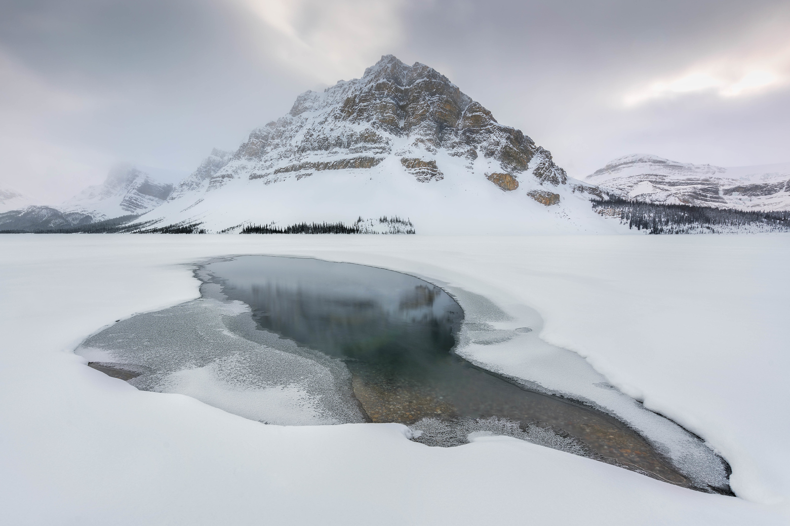 Enjoy the winter landscapes in Banff Canada