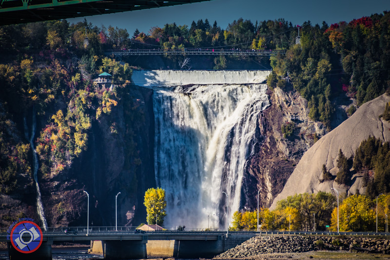 The Montmorency Falls as Seen from the St. Lawrence River (©simon@myeclecticimages.com)