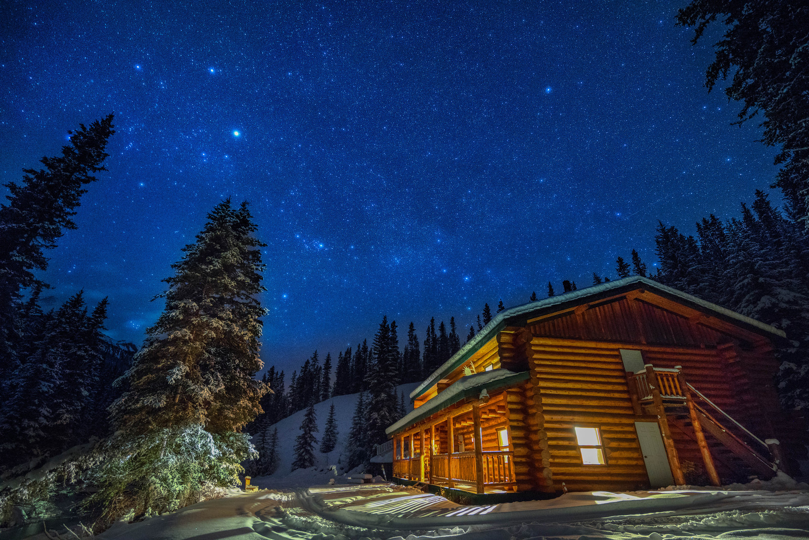 Night Skies at Sundance Back Country Lodge in Banff National Park, Alberta