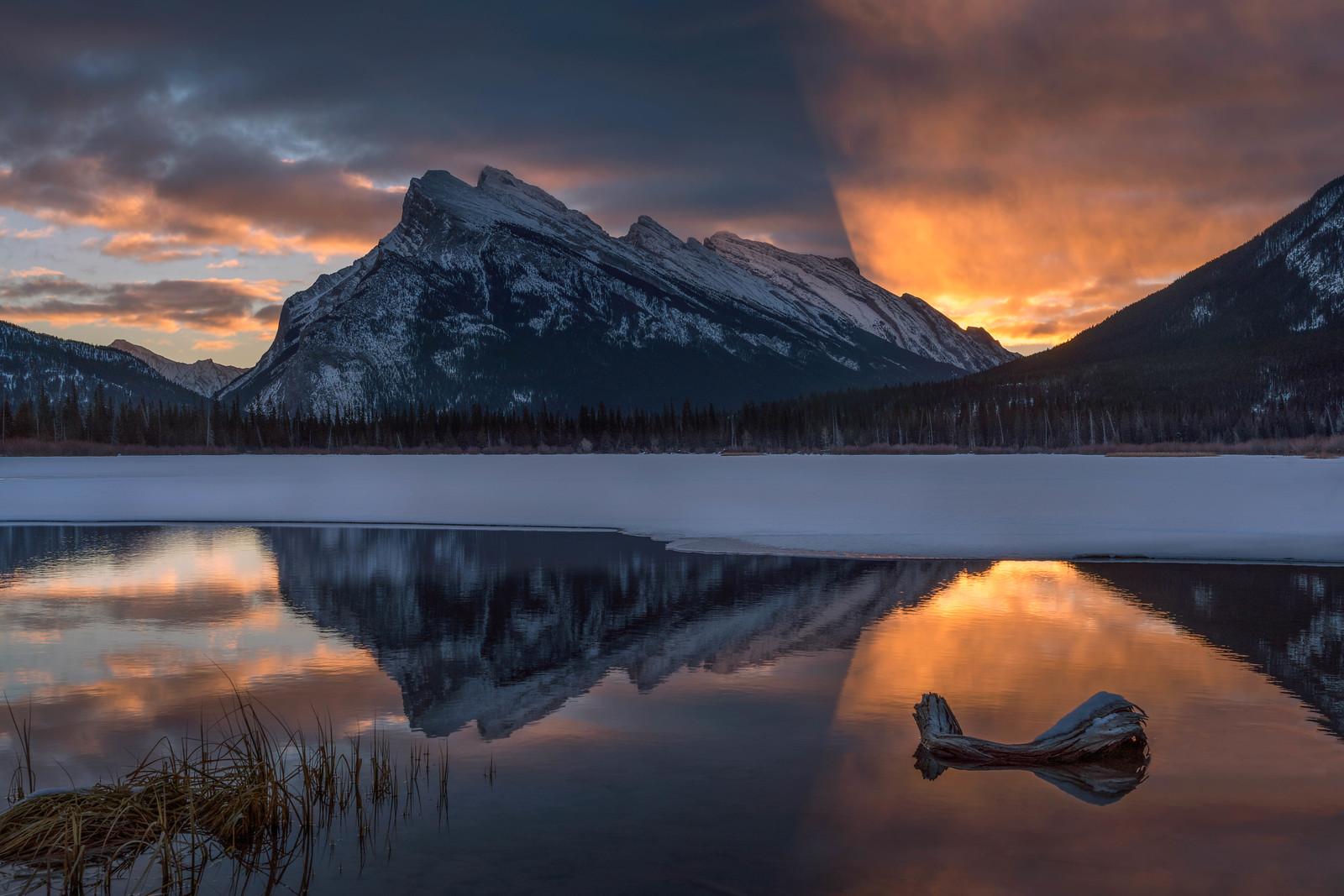 The Vermillion Lakes Banff Canada.