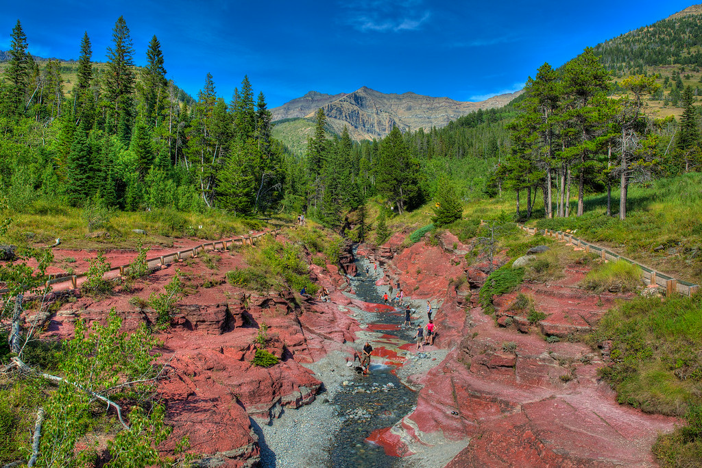 Red Rock Canyon in Waterton National Park