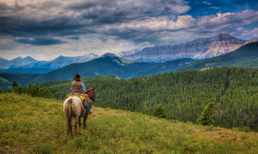 High Mountain Trail ride, Alberta