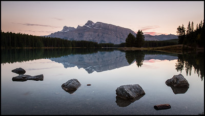 Two Jack Lake at sunset