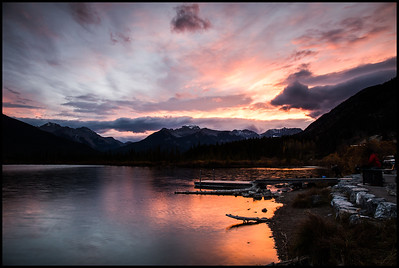 Sunset at Vermilion Lakes