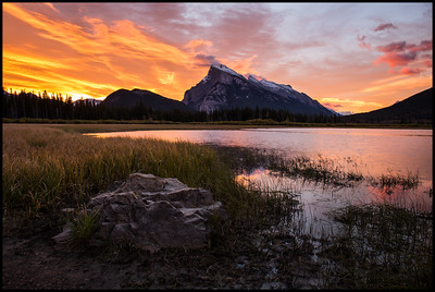 Mt Rundle at Sunrise, Vermilion Lakes