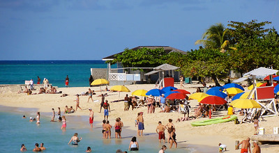 Colorful beach in Montego Bay, Jamaica