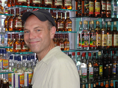 Rum shopping in Montego Bay, Jamaica