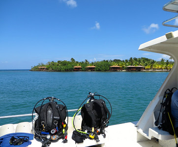 Onboard the dive boat - Roatan, Honduras