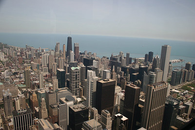 Great view down into the Loop...so many great buildings!!!