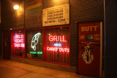 Billy Goat tavern (read the sign at the top)