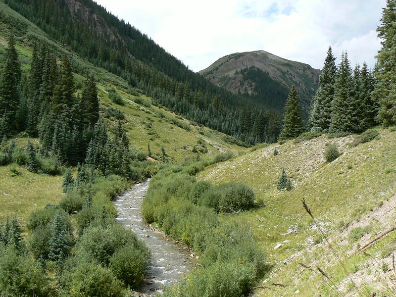 A creek running between a small valley