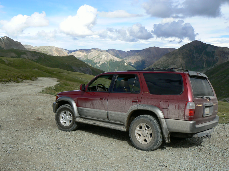 Dusty Toyota after driving the Alpine Loop in Colorado