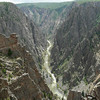 A view of the river from the North Rim edge of Black Canyon of the Gunnison
