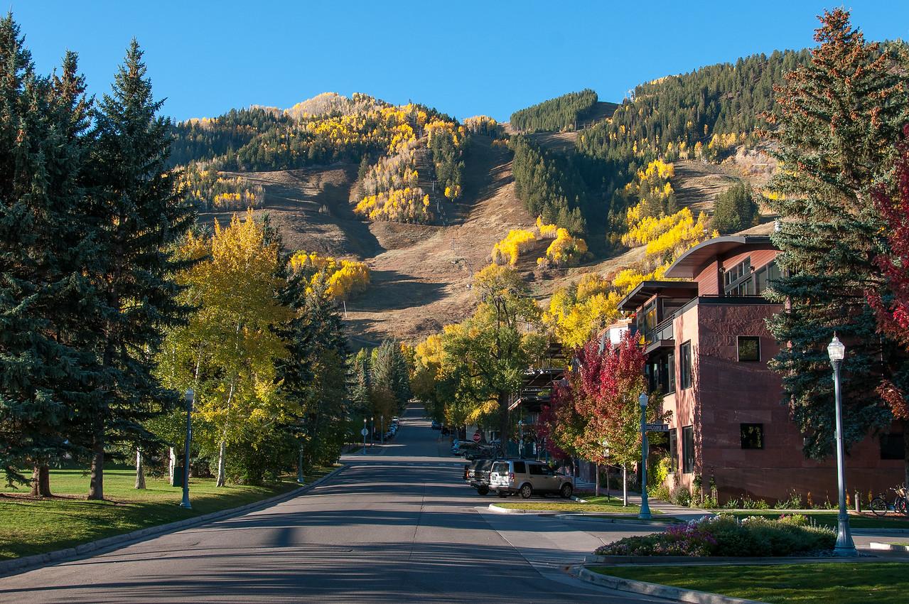 Street scene in Aspen, Colorado