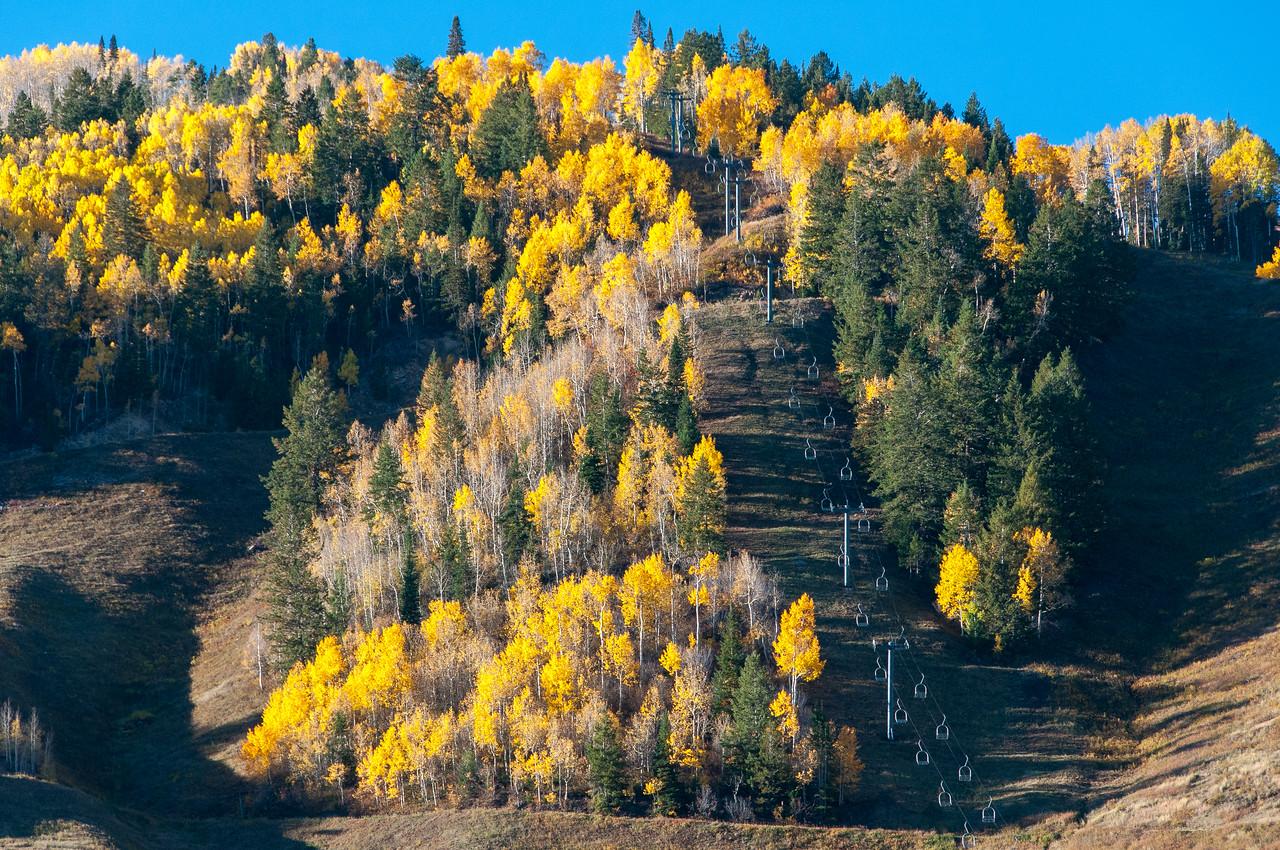 Ski lifts in Aspen, Colorado