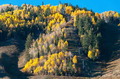 Ski lifts in Aspen, Colorado