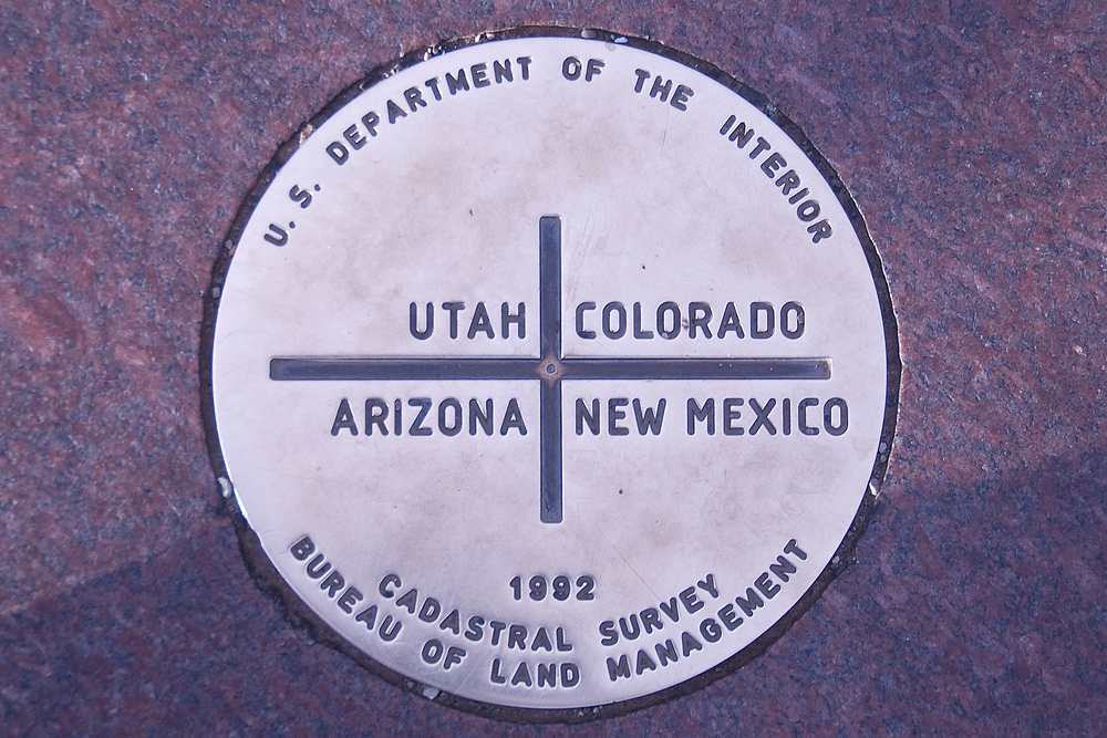 The Four Corners Point: Arizona, Utah, Colorado, New Mexico