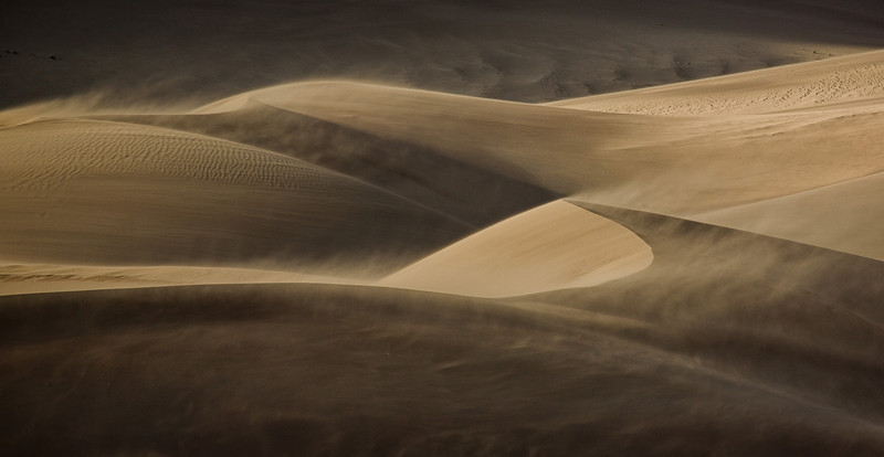 Sand storm at Great Sand Dunes National Park!