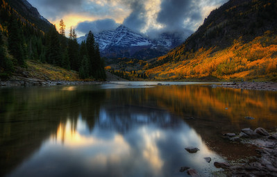 Sunset over Maroon Bells