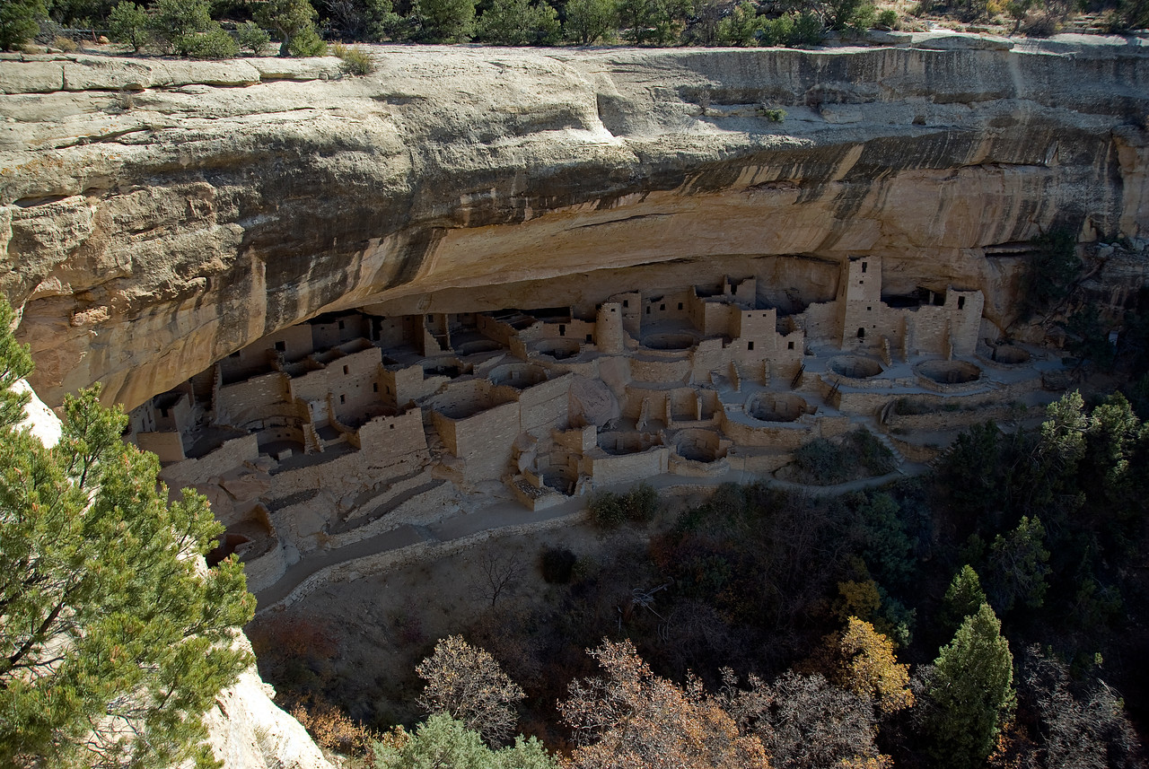 Panorama of Cliff Palace in Mesa Verde, Colorado