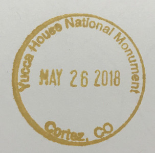 The Yucca House stamp is available at the Mesa Verde Visitor Center