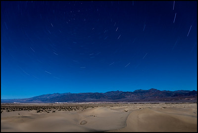 Mesquite Sand Dunes under moonlight