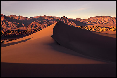 Sunset at Mesquite Sand Dunes