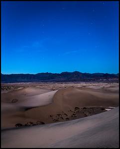 Mesquite Sand Dunes under moonlight