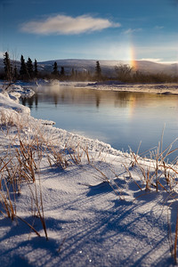 The mist in the air led to beautiful sundogs