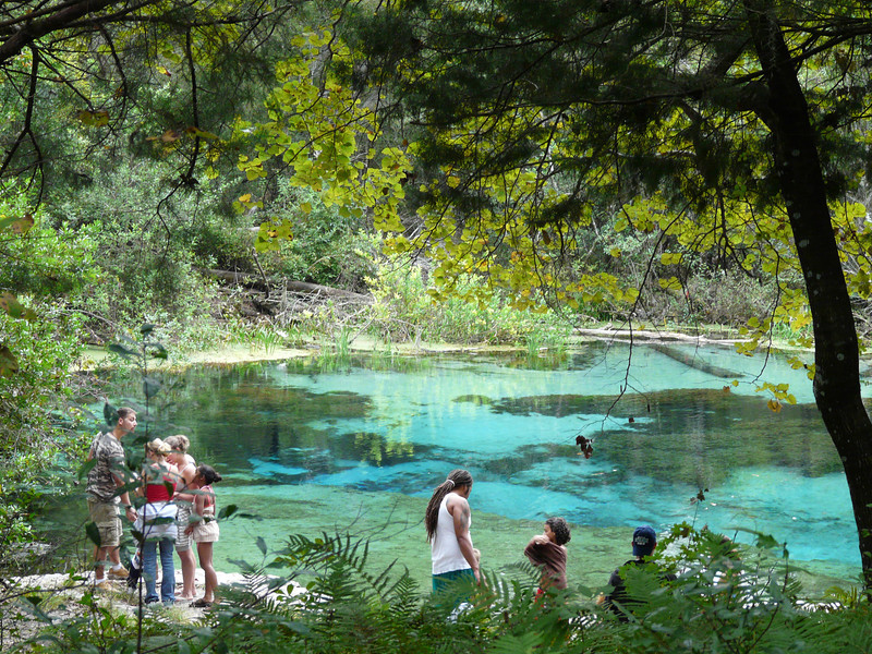 Swimmers prepare to enjoy Ichetucknee Springs