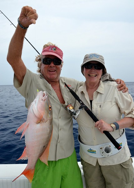 Catching a fish on a charter in the Florida Keys with Capt. Skip Bradeen.