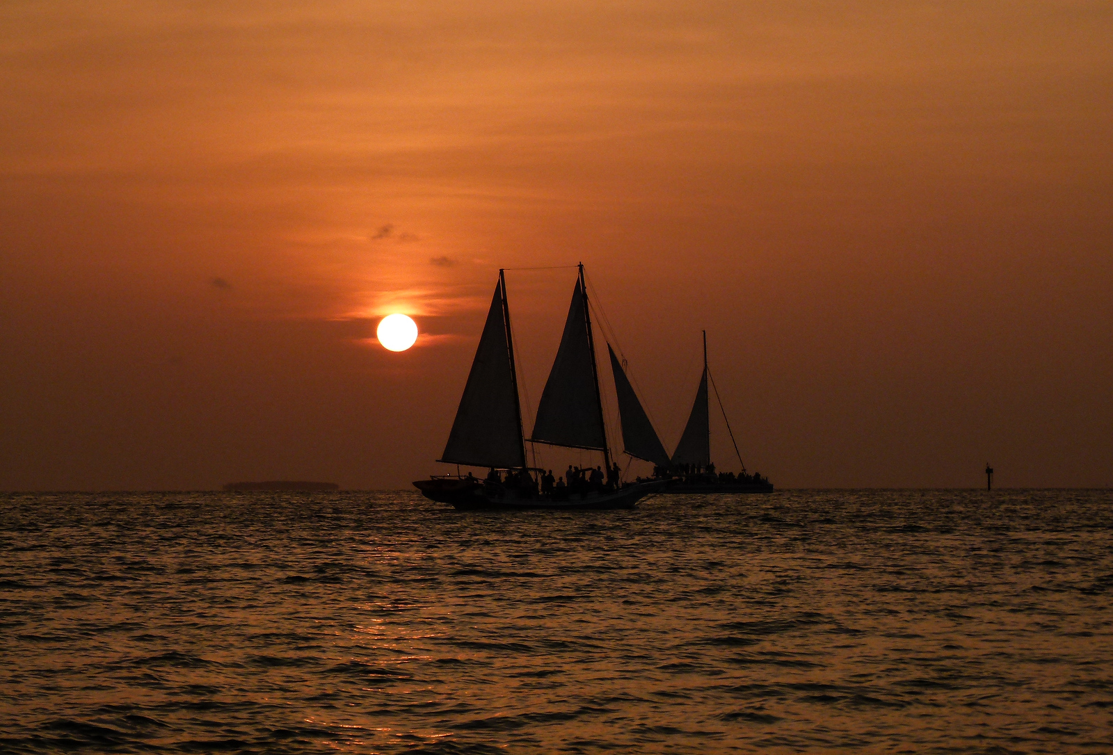 Enjoy a sunset on a road trip to Key West, Florida.