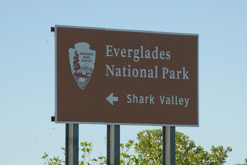 Road sign to Everglades National Park in Florida