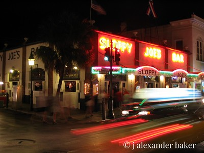 Wizzing by Sloppy Joe's - most things in Key West don't happen this fast though.